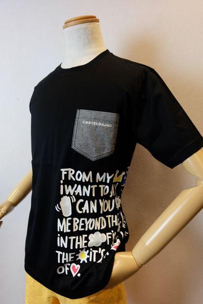 【セール35%OFF】 カステルバジャック CASTELBAJAC 【半袖Tシャツ】【春夏アウトレット現品限り品】【メンズファッション】【カステルバジャック服】スイスコットンポケット付き半袖Tシャツ ブラック