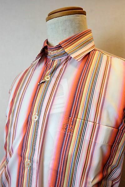 ジーゲラン GEEGELLAN 【カジュアルシャツ】【2019春夏新作】【メンズウェア】【オーストリア製】【ジーゲラン服】 オーストリア製生地シャツ ピンクオレンジ
