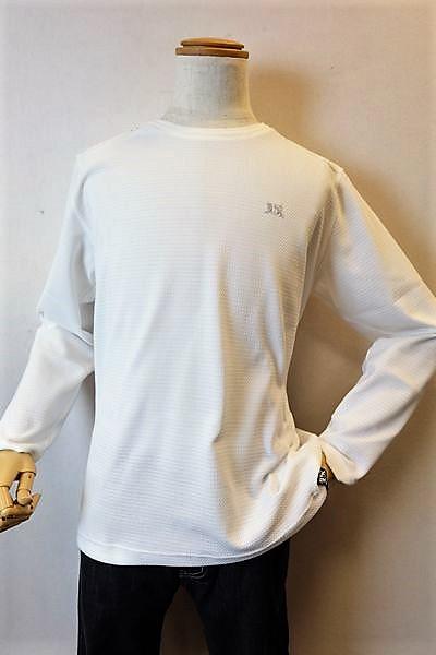 バラシ barassi 【ロングTシャツ】【2018春夏新作】【メンズウェア】【カットソー】【クールマックス】【バラシ服】 吸汗速乾ロングTシャツ ホワイト