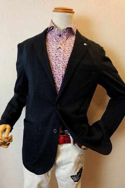 オロビアンコ OROBIANCO 【ジャケット】【2019春夏新作】【イタリア】【メンズウェア】【オロビアンコ バッグ】【オロビアンコ服】 一枚仕立てストレッチジャケット ネイビー