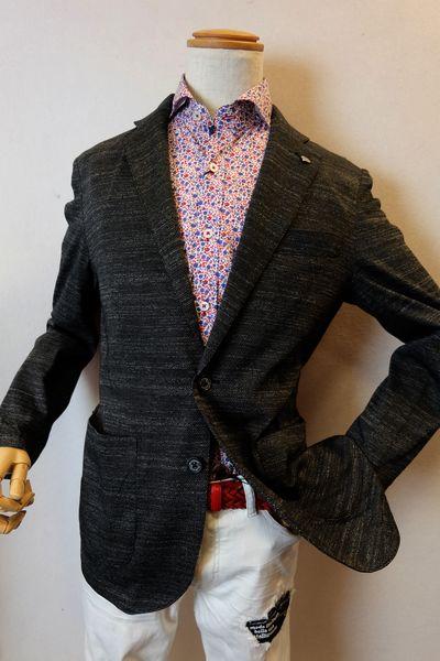 オロビアンコ OROBIANCO 【ジャケット】【2019春夏新作】【イタリア】【メンズウェア】【オロビアンコ バッグ】【オロビアンコ服】 一枚仕立てストレッチジャケット ブラック