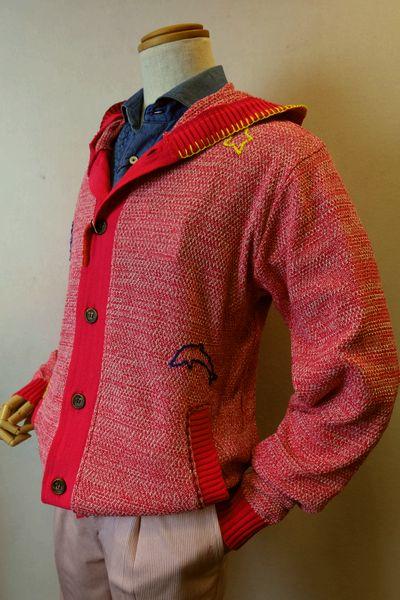 アルコットヒル Alcott hill 【パーカー】【2019春夏新作】【メンズウェア】【スプリングニット】【アンジェロ】【アルコットヒル服】 スプリングニットパーカー ピンク
