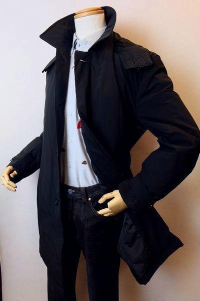 【セール70%OFF】 カリーニ carini 【ダウンコート】【秋冬アウトレット現品限り品】【メンズウェア】【カリーニ服】 フード付きダウンコート ネイビー