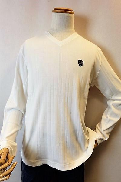 【セール60%OFF】 バラシ barassi 【半袖Tシャツ】【春夏アウトレット現品限り品】【メンズウェア】【カットソー】【バラシ服】 VネックロングTシャツ ホワイト 3L