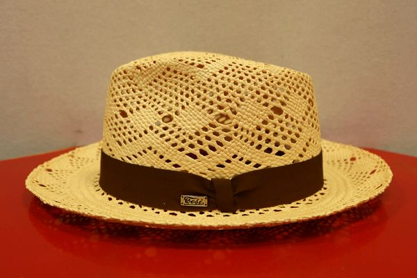 テシ Tesi 【パナマ帽】【イタリア製】【ハット】【メンズ帽子】 透かし編みパナマ帽 キナリ