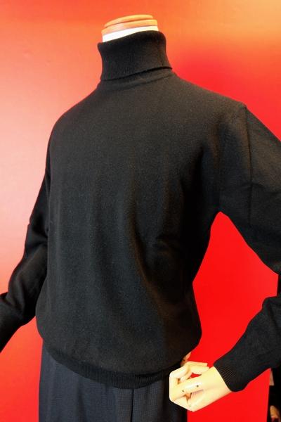 【セール40%OFF】 ジーゲラン 【日本製カシミヤセーター】【メンズウェア】【タートルネックセーター】【ニット】【ジーゲラン服】 カシミヤ100%タートルネックセーター ブラック GEEGELLAN