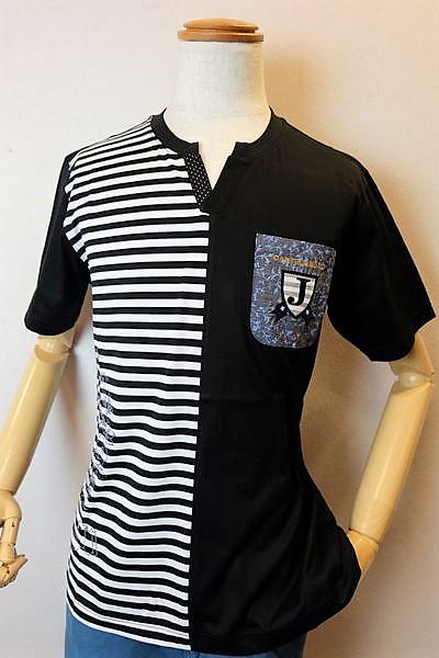 カステルバジャック 【半袖Tシャツ】【2020春夏新作】【カットソー】【メンズウェア】【ゴルフ】【カステルバジャック服&バッグ】キーネック切り替え半袖Tシャツ ブラック CASTELBAJAC