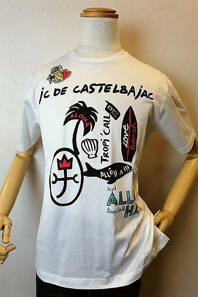 【セール35%OFF】 カステルバジャック 【半袖Tシャツ】【2020春夏新作】【カットソー】【メンズウェア】【ゴルフ】【カステルバジャック服&バッグ】アートプリント半袖Tシャツ ホワイト CASTELBAJAC