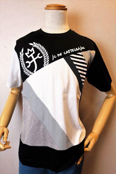 カステルバジャック 【半袖Tシャツ】【2020春夏新作】【カットソー】【メンズウェア】【ゴルフ】【カステルバジャック服&バッグ】切り替えデザイン半袖Tシャツ ブラック CASTELBAJAC