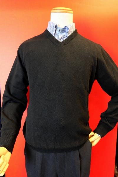 【ジーゲラン】【GEEGELLAN】【日本製カシミヤセーター】【秋冬アウトレットセール40%OFF】【メンズ】【カシミヤ】【ブランド】【メンズファッション】【ジーゲラン服】 カシミヤ100%Vネックセーター ブラック