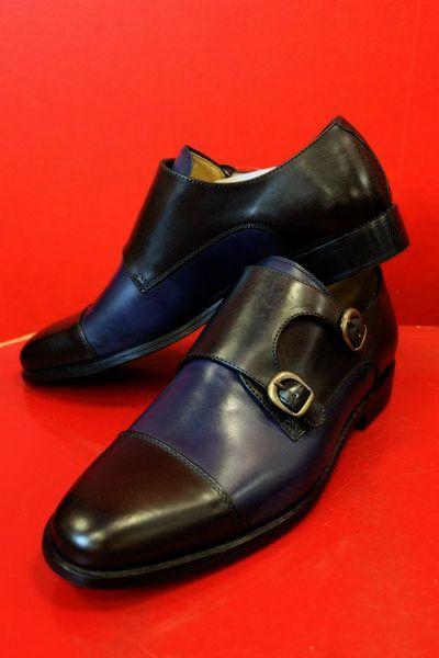 【イル・カンパゴ】【ILCAMPAGO】【ダブルモンクストラップシューズ】【メンズ】【イタリア製】【革靴】【メンズファッション】【イルカンパゴシューズ】 ダブルモンクストラップシューズ ネイビー