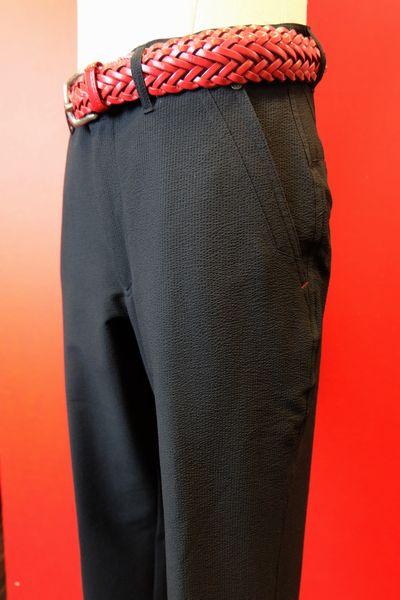 【セール50%OFF】【春夏アウトレット現品限り品】【バラシ】【barassi】【カジュアルパンツ】【メンズ】【ブランド】【ノータックパンツ】【メンズファッション】【バラシ服】 吸汗速乾素材ノータックパンツ ブラック