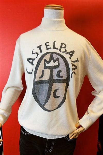 【セール50%OFF】 カステルバジャック CASTELBAJAC 【カシミヤセーター】【秋冬アウトレット現品限り品】【メンズウェア】【ハイネックセーター】【メンズファッション】【カステルバジャック服】 カシミヤ100%ハイネックセーター オフホワイト