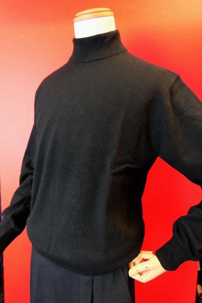 【セール35%OFF】 ジーゲラン GEEGELLAN 【日本製カシミヤセーター】【2018秋冬新作】【メンズ】【ハイネックセーター】【ニット】【メンズファッション】【ジーゲラン服】 カシミヤ100%ハイネックセーター ブラック