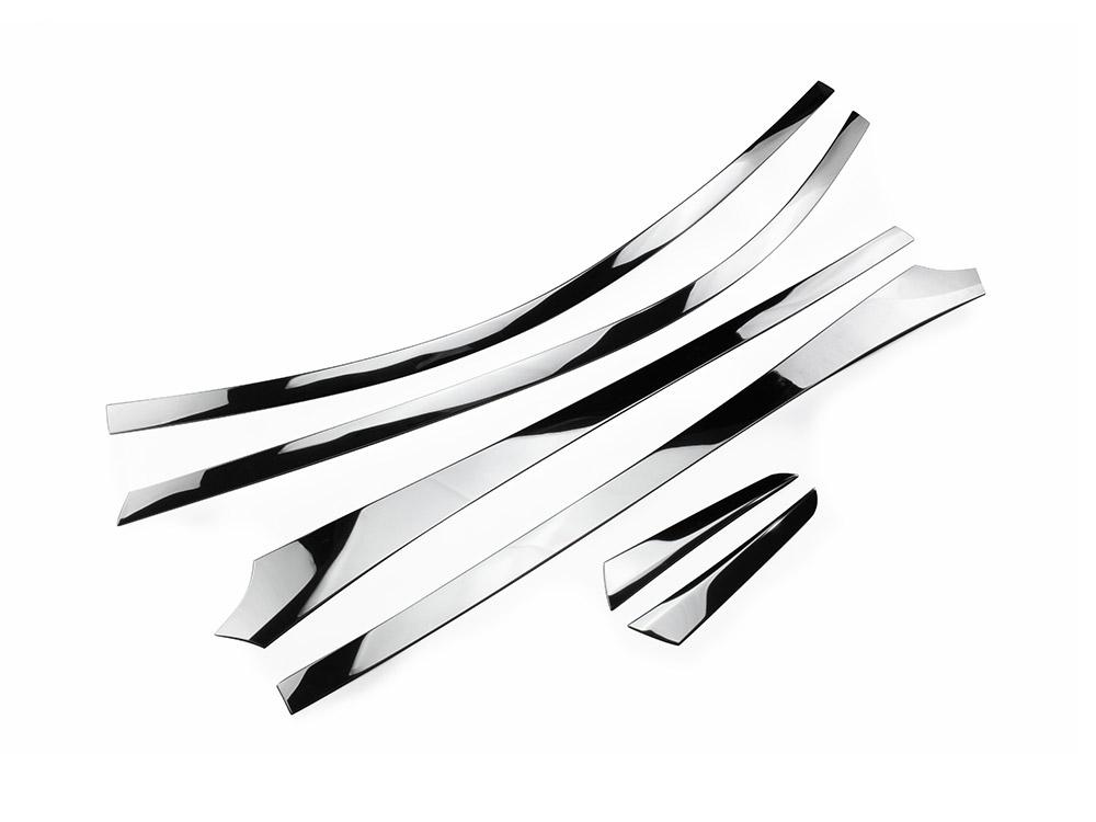 C-HR CHR ZYX10/NGX50ルーフトリムピラー サイドガーニッシュ ピラーデカール ウインドウトリム 6枚セット