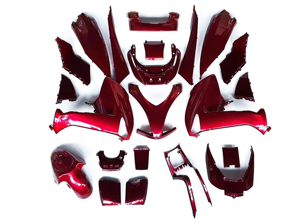 ★★マジェスティ 250 (SG20J 4D9) スクーター 外装 カウル 塗装済み 22点セット ワインレッド NEW MAJESTY250