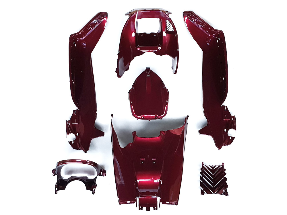 ★★マジェスティ 250 SG20J 4D9 インナーカウル 塗装済み (ワインレッド)1式 7点セット NEW MAJESTY250
