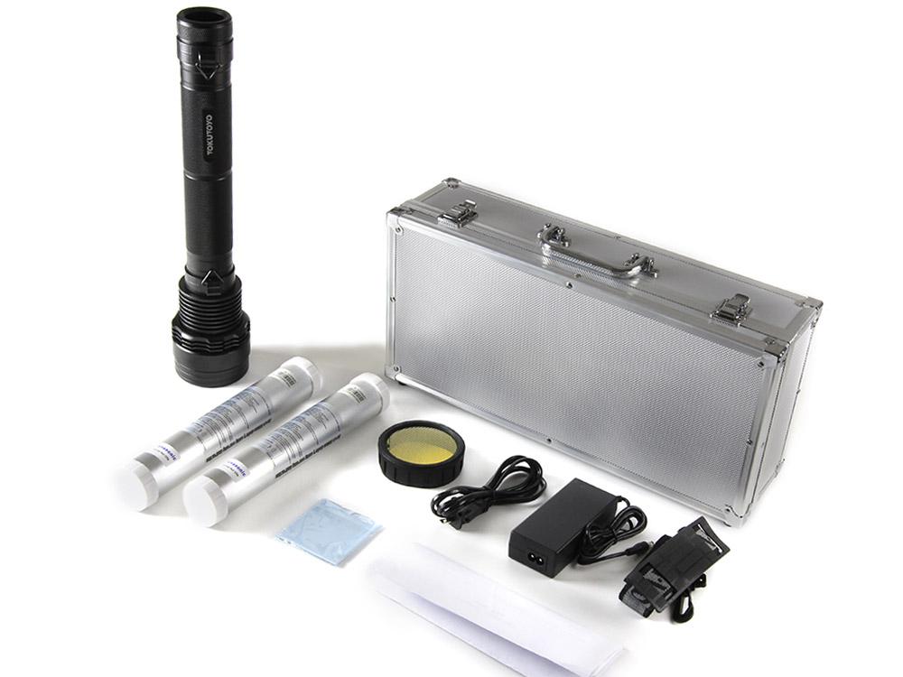 9300mAh電池合計2個 8500LM 45W/65W/85W 3段切替 HID懐中電灯キット キャンプ、アウトドア用品
