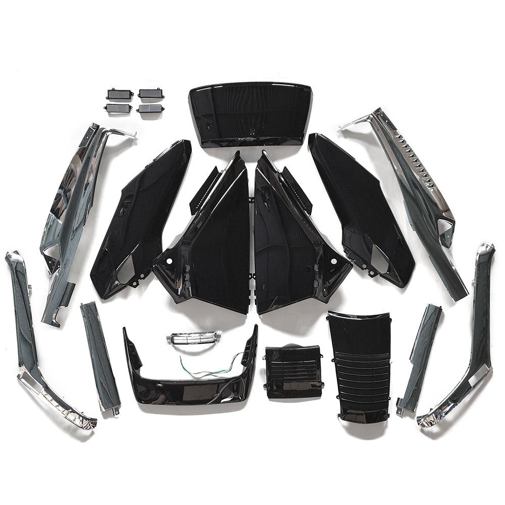 ホンダ フュージョンMF02 外装アッパ と メッキアンダー セット 黒色