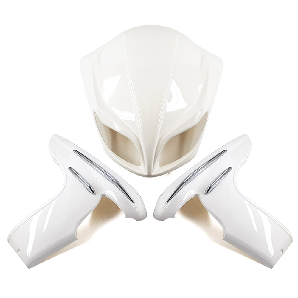 フォルツァMF08 エアロ カウル マスク&サイド 白塗装済み 3点Set