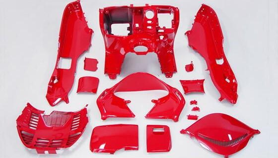 フォルツァ MF08 赤色塗装済みインナーカウル 13点Set