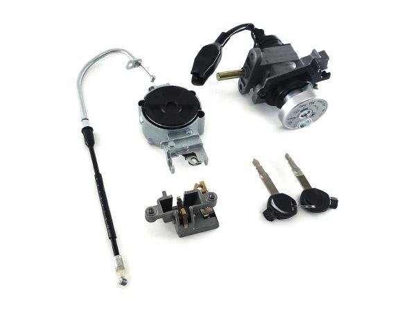 ヤマハ シグナスX(SE44J) ワイヤー/ケーブル シートロック 燃料キャップ ユニット メインキー 4点セット