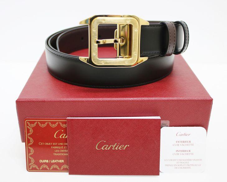 【質SHOPアデ川】Cartier カルティエ L5000420 サントス 100 ベルト メンズ【未使用品】【送料無料】【質屋】【男性】【ベルト】【カルチェ】【アデガワ】【北越谷】