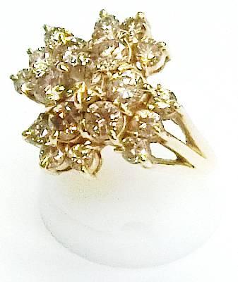 【菊地質店】【中古】K18 ダイヤモンド2.00ct 指輪 14.5号【送料無料】【質屋出店】【smtb-TK】<15-18>
