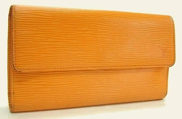 【菊地質店】【中古】ルイ・ヴィトン lLOUIS VUITTON エピ ポルトトレゾール・インターナショナル カード用ポケット付き財布 M6338H マンダリン【送料無料】【質屋出店】【smtb-TK】<212-9>
