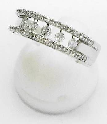 【菊地質店】【中古】K18WG ダイヤモンド0.30ct 指輪 12.5号【送料無料】【質屋出店】【smtb-TK】<15-10>