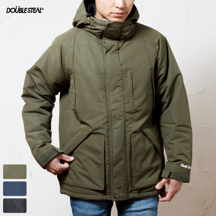DOUBLE STEAL ダブルスティール 撥水加工 ファイバー ダウン ジャケット / WATER PROOF HOOD JACKET