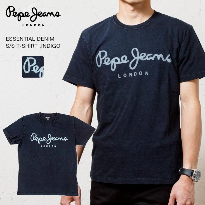 PEPE JEANS LONDON ペペジーンズエッセンシャル デニム ロゴプリントTシャツ ESSENTIAL DENIM S PM503992-2 父の日 ペペジーンズ 大人気再入荷 国内正規代理店品 PRINT 日本正規品 サービス T-SHIRT LOGO エッセンシャル