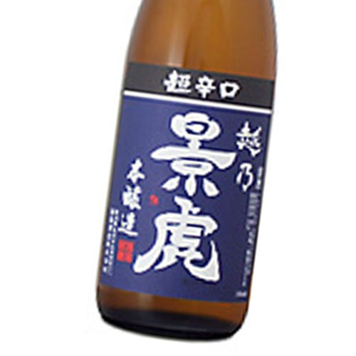 越乃景虎 日本酒度が+12.0もありながら実際口にすると辛くは感じず 甘いとおっしゃる人さえいます 日本酒 正規特約店 直輸入品激安 百貨店 本醸造 720ml 超辛口 超軟水の仕込水は辛口酒にむく