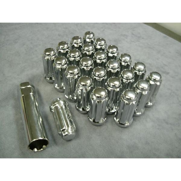 14mm×2.0 スプライン 袋 クローズド ロックナット 24本 6穴 アメ車対応 ロングタイプ