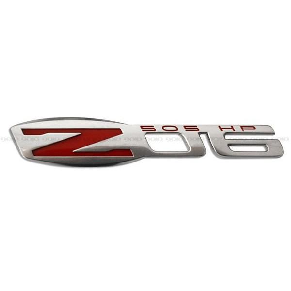 シボレー コレベット C6 Z06 フェンダー エンブレム シルバー
