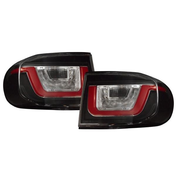 07y- トヨタ FJクルーザー ファイバー LED テールライト (ブラック)