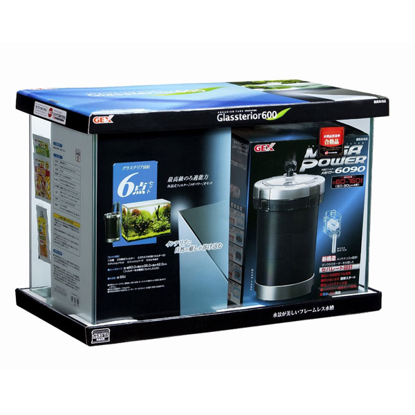 GEX グラステリア600 6点セット 60cm 外部フィルター 水槽セット 熱帯魚