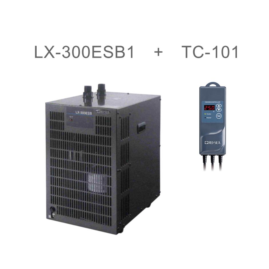 【送料無料】レイシー 小型循環式クーラー LX-300ESB1 サーモコントローラーセット 沖縄は発送不可 (160)