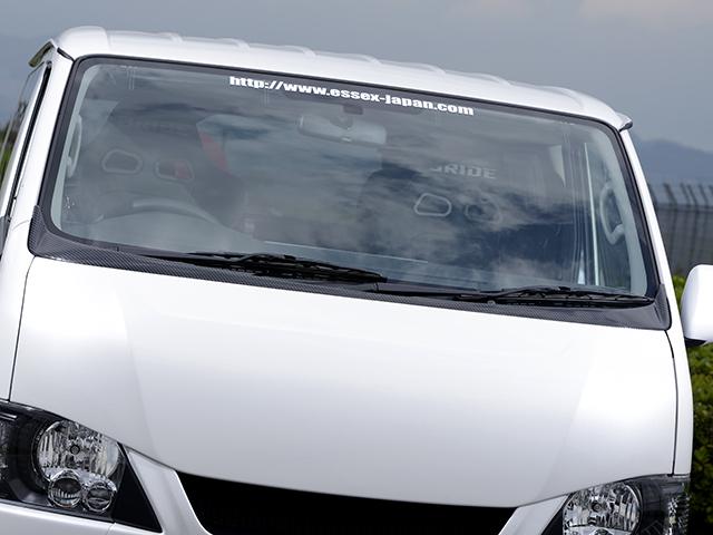 エセックス ワイパーガード■ABS製■ブラックカーボンレイヤーCRS シーアールエス ESSEX 200系ハイエース・レジアスエースナロー 標準