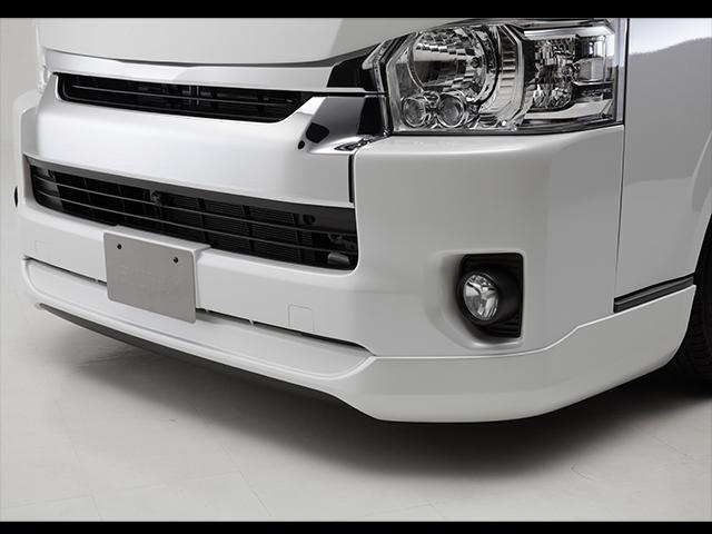 エセックス フロントリップスポイラーVer.4■4型ワイド用■FRP製■未塗装CRS シーアールエス ESSEX 200系ハイエース・レジ アスエース