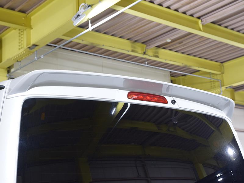 AKEA リアルーフスポイラー ABS製070(ホワイトパール)CRS シーアールエスessex 200系ハイエース バン