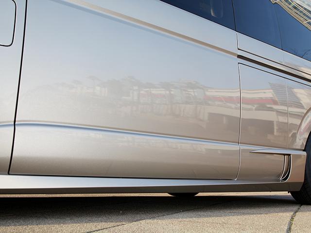 エセックス PROGRESSサイドステップ■未塗装■FRP製■スーパーロング用CRS シーアールエス ESSEX200系ハイエース・レジアスエース