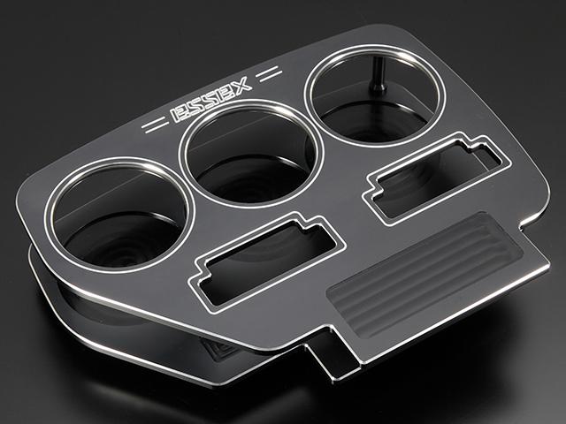 エセックス BILLETビレットフロントカップホルダー■ブラックCRS シーアールエスESSEX 200系ハイエース 1型2型3型4型レジアスエース