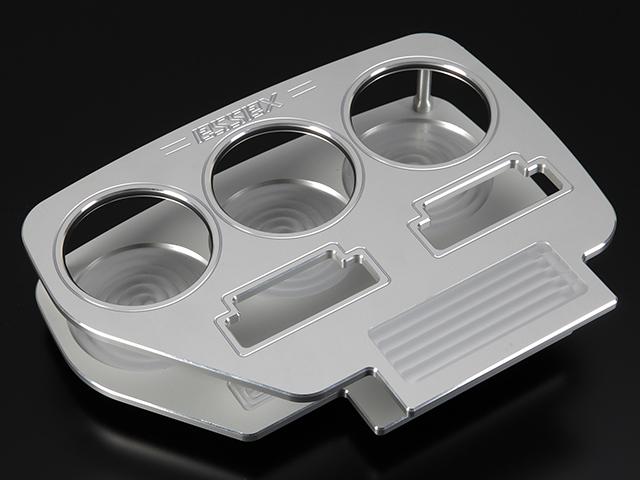 エセックス BILLETビレットフロントカップホルダー■シルバーCRS シーアールエスESSEX 200系ハイエース 1型2型3型4型レジアスエース