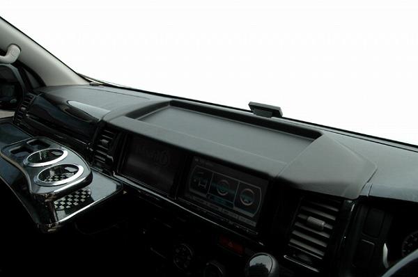エセックス トレイ付きナビモニターバイザー【代引き不可】■シックスセンスCRS シーアールエス ESSEX200系ハイエース ワイドボディ用