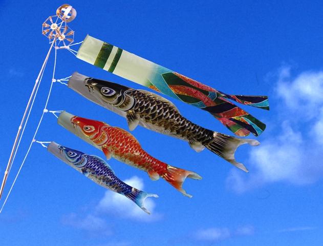 【特選】 最高級鯉のぼり 響 3m庭園セット 翔美吹流 ジャガードポリエステル使用 金箔ぼかし撥水加工 【smtb-KD】