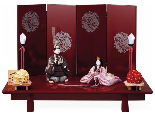 【特選】 木目込 一秀 さくらさくら 親王飾 20号B C-139 ひな人形 雛人形 【smtb-KD】