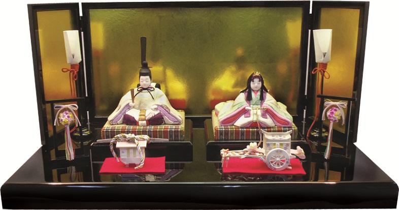 【特選】 木目込 ゆうき作 富士雛親王飾 ひな人形 雛人形 【smtb-KD】