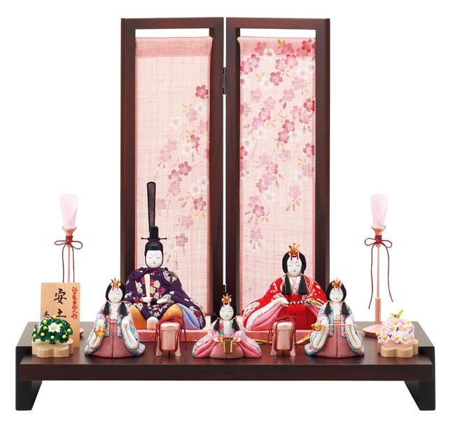 【特選】 木目込 一秀 五人飾 安土雛200号 I-36 ひな人形 雛人形 【smtb-KD】