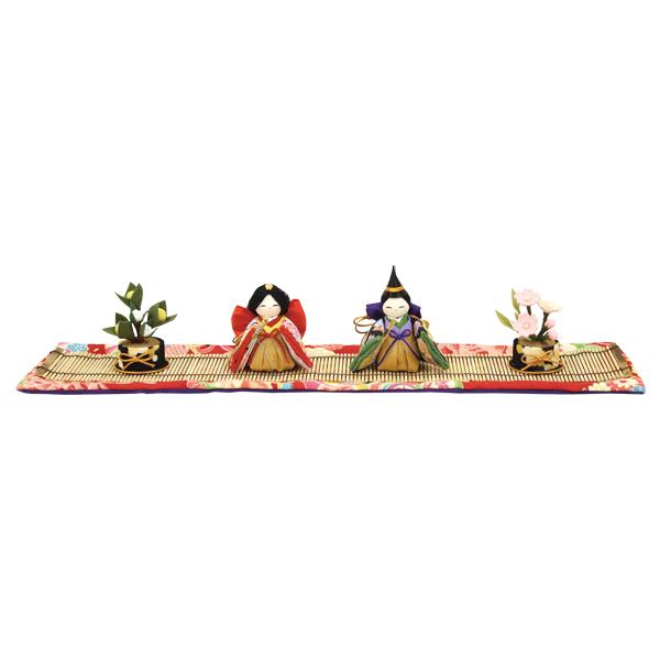 リュウコドウ デポー 彩雛 桜橘飾り 商品 雛人形 ひな人形 平飾り 1-762 親王飾り